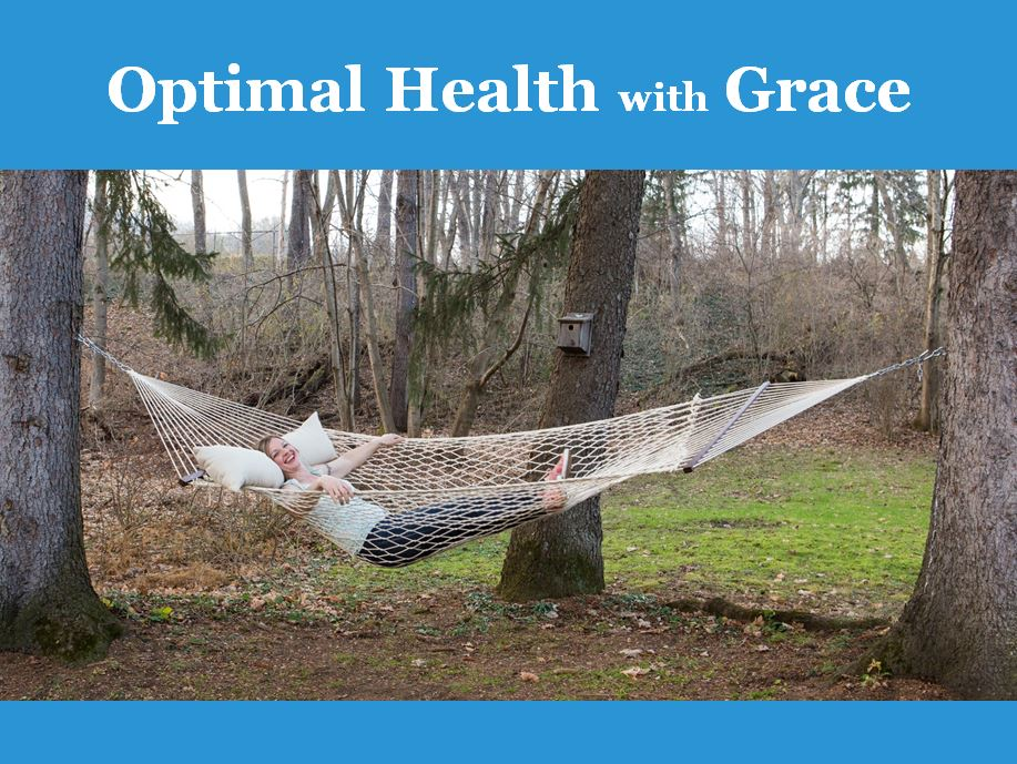 Grace, relaxed and stress free in a hammock
